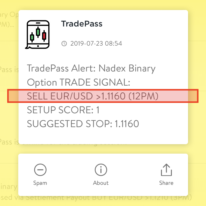 Trade Signal: Position Info